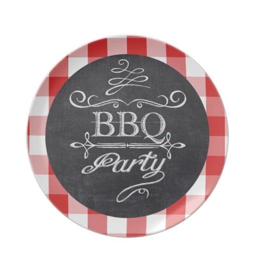 BBQ Party Chalkboard Plate #junkydotcom