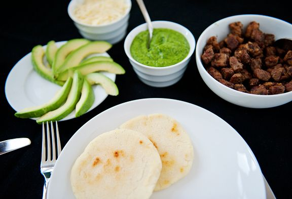 arepas with guasacaca recipe   use real butter