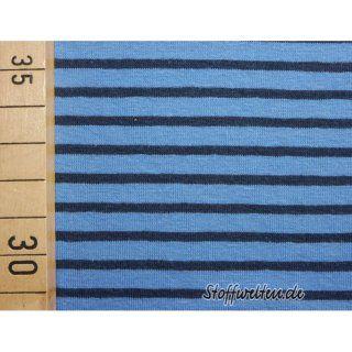 hochw. Ringel Jersey, marine-blau, 160cm breit, Streifen...