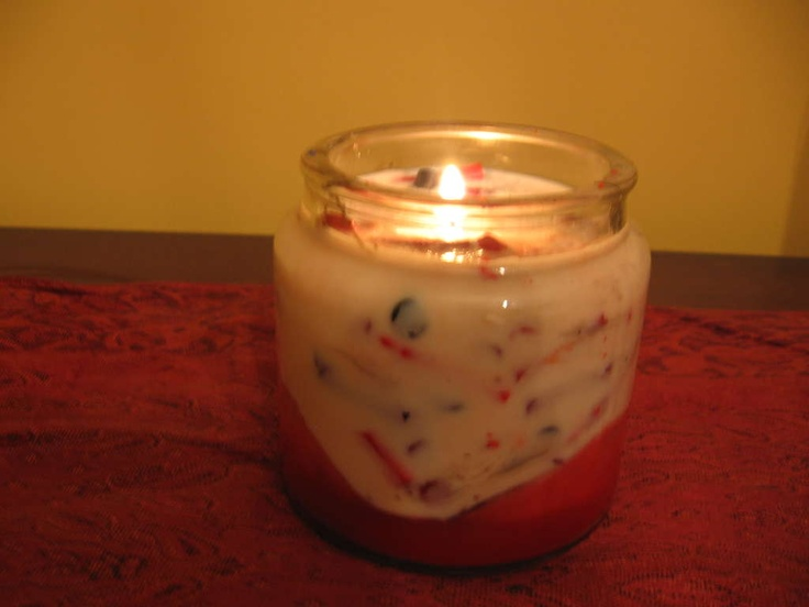 Make candles out of old crayons