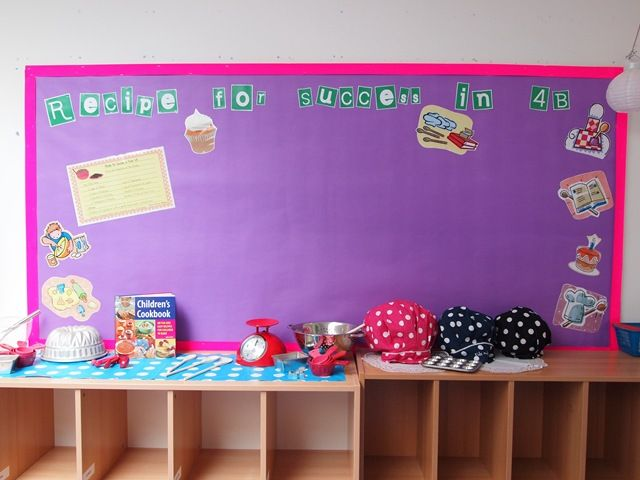Recipe for success in the new school year - Involves creating a simple yummy recipe with each ingredient representing effort, kindness, etc. The end mixture is then bagged up and the children get to take it home. Photographs can be taken to add to the display.