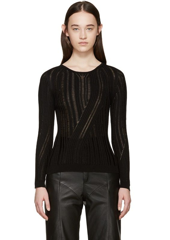 Acne Studios – Black Marcy Mouline Sweater