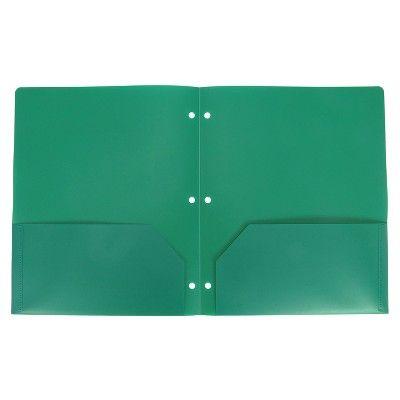 Plastic Folder 2 Pocket Green - up & up