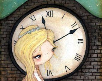 The White Rabbit Print Cute Pencil Bird Fairy Tale Wall Art