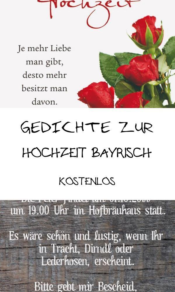 Good 20 Gedichte Zur Hochzeit Bayrisch Kostenlos