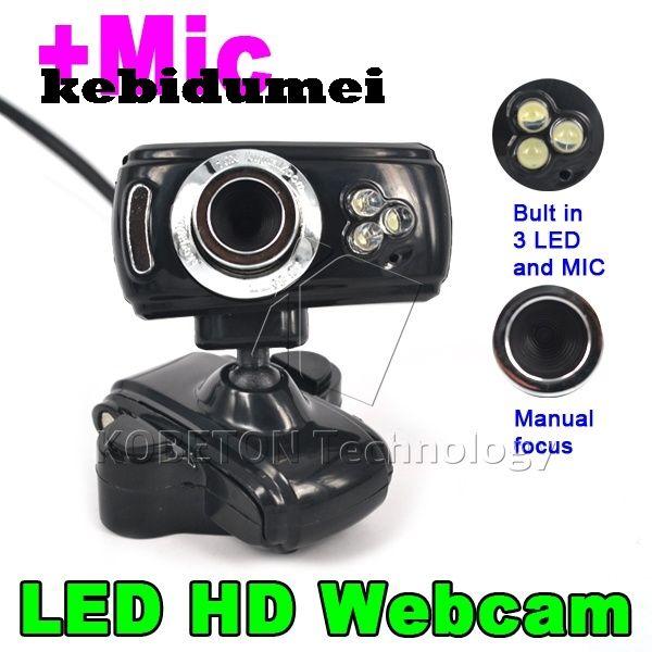 kebidumei 3 Led USB 2.0 50.0M HD Webcam Camera Web Cam Digital Video Webcamera with Microphone MIC for Computer PC Laptop //Price: $7.40//     #Gadget