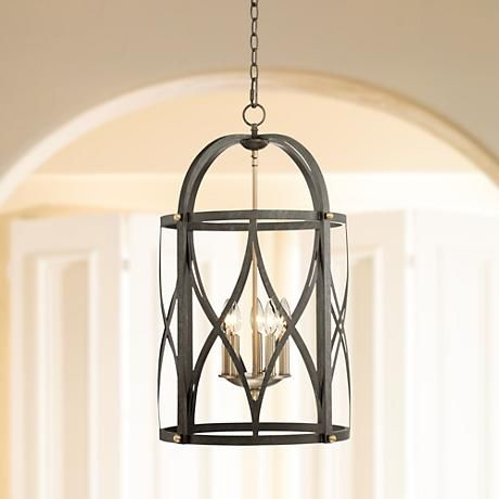"Torrison 5-Light 16"" Wide Dark Bronze Foyer Chandelier"