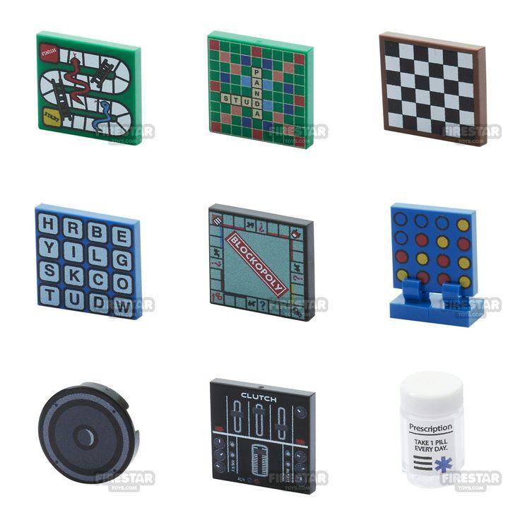 Custom print lego minifigure parts and accessories www firestartoys com