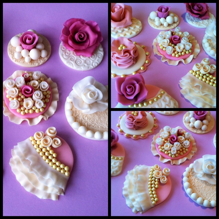 Vintage cupcake toppers