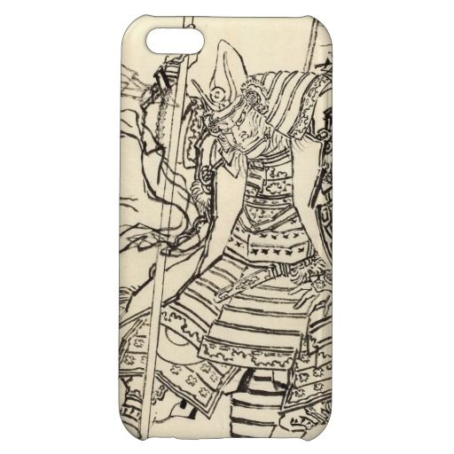 Sketch of samurai warrior  Kato Kiyomasa, Hokusai Katsushika vintage Case Savvy Glossy Finish iPhone 5C Case