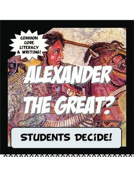 "This activity is student centered and Common Core! First, students read a brief history about the famous Alexander the Great. Then, they analyze some of his more controversial accomplishments and evaluate his ""greatness"". Next, students formulate an opinion and use his accomplishments as evidence to support their beliefs.They create a conclusion, and even draw parallels about his accomplishments and what makes a person great.Tony Pavlovich, Instructomania, Ancient World History, Ancient…"