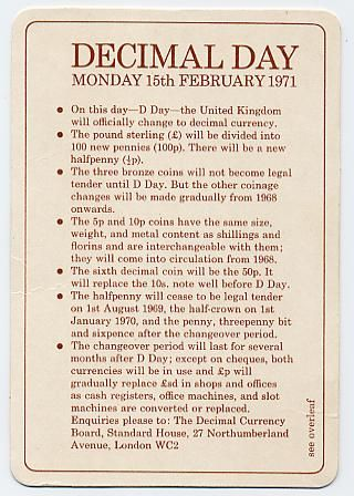 The old sterling currency - pounds, shillings and pence. With examples and explanations.