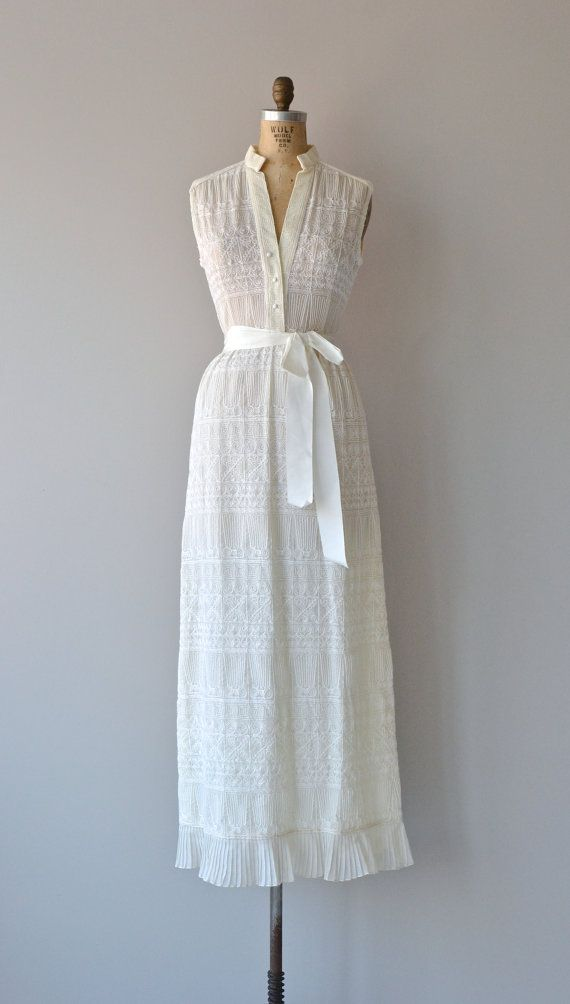 Hieroglyph dress vintage 1970s wedding dress for 1970s vintage wedding dresses