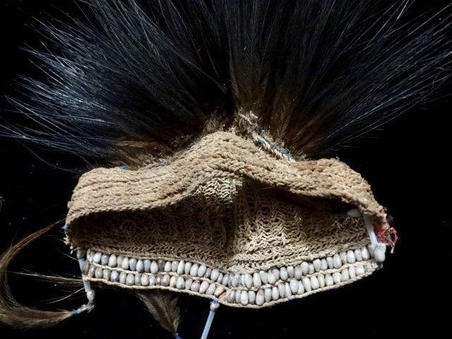Asmat tribal headdress PNG head hunter Irian jaya Cassowary feather jali jali #indonesianjeweler