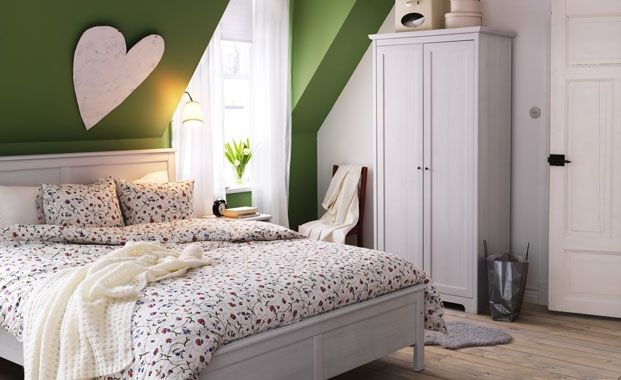 I think I'm going for a green theme!: Decor, Interior, Attic Bedrooms, Color, Green Wall, Dream, Bedroom Design, House, Bedroom Ideas