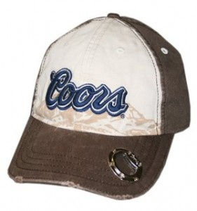A hat with a beer opener. Nice.