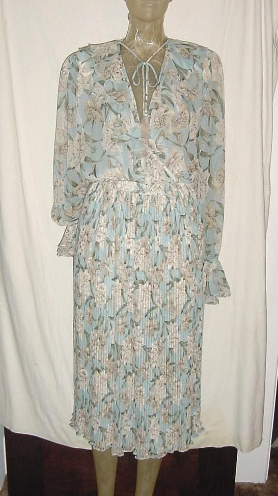 Vtg 80s Diane Freis Flower Chiffon Light by retroactivevintage, $22.00