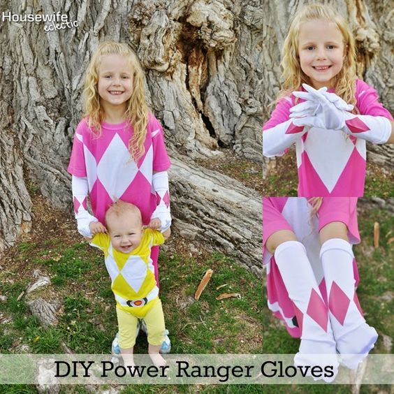 Housewife Eclectic: DIY Power Ranger Gloves: