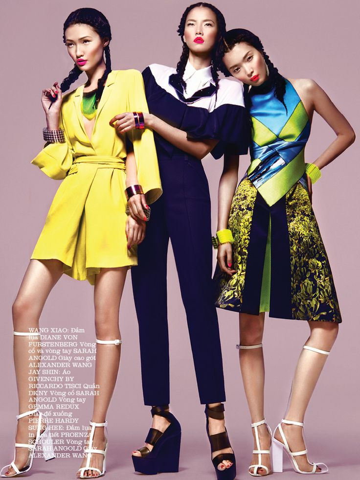 TRUE COLORS: SUNG HEE KIM, WANG XIAO AND JAY SHIN BY KEVIN SINCLAIR FOR ELLE VIETNAM MARCH 2013