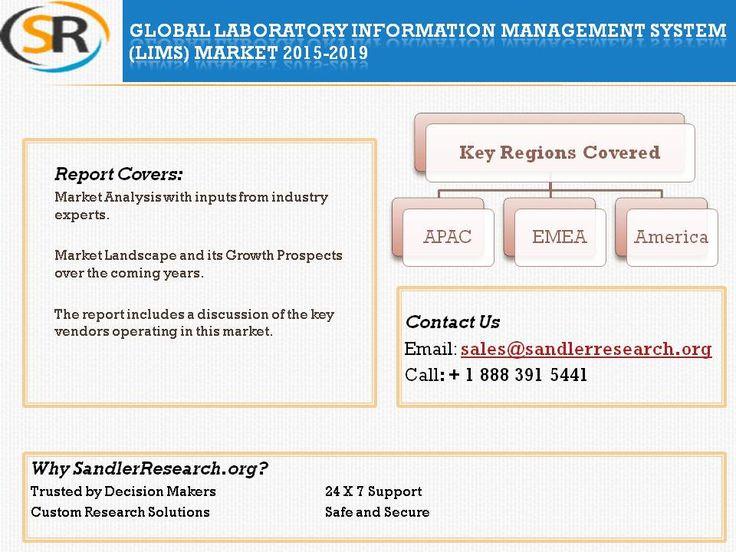 Global Laboratory Information Management System (LIMS) Market 2015-2019 at http://www.sandlerresearch.org/global-laboratory-information-management-system-lims-market-2015-2019.html