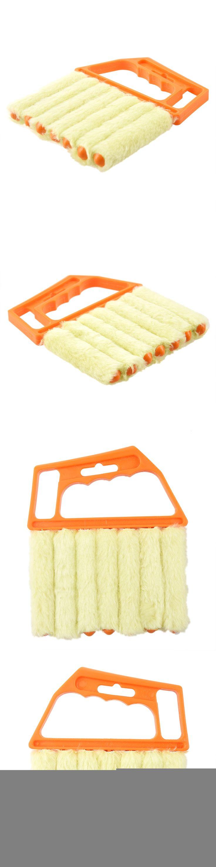 Microfibre Venetian Blind Brush Window Air Conditioner Duster Dirt Clean Cleaner (Orange)