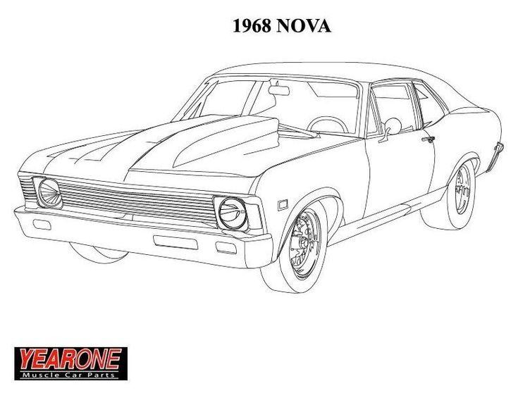 Chevy Nova Coloring Pages Murderthestout