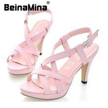 Женщины новый высокий каблук мода леди сексуальные сандалии туфли на каблуках P372 горячая распродажа размер 32 - 43(China (Mainland))