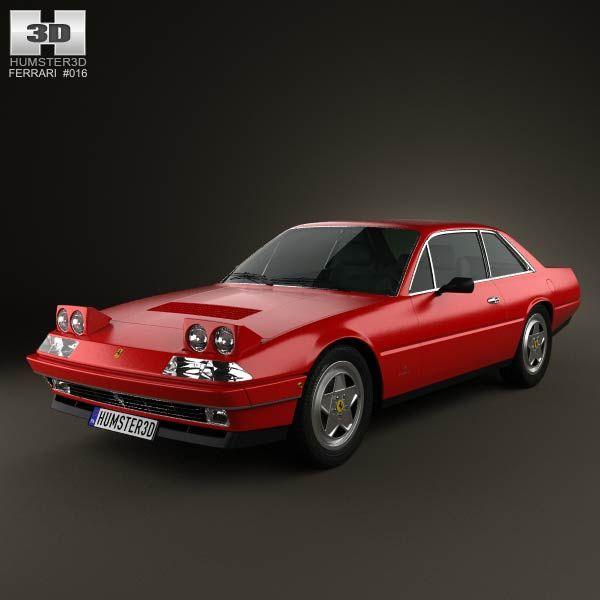 Cenário 3d Ferrari F430 Modelo 3d: Ferrari 412 1985 3d Model From Humster3d.com. Price: $75
