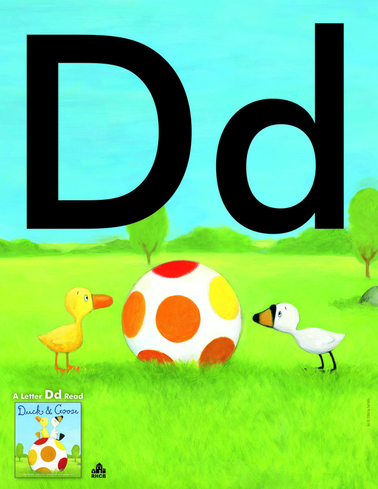 Letter Dd Card - print out and use to start a bulletin board display or letter collage.  A Dynamite Letter Dd read is DUCK & GOOSE.