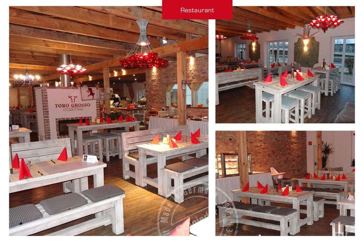 Was für eine Atmosphäre! Karl-Heinz Schürmann stattete das Restaurant Toro Grosso in Magdeburg aus. Schöööön, finden wir! Toro Grosso. http://www.schnieder.com/gastronomiemoebel/outdoor.html