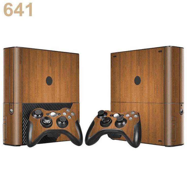 7 Стили Пользовательских Дерева Скины Для Microsoft Xbox 360 E Консоли Наклейки и 2 Колодки Для Xbox 360E Игрок Игры