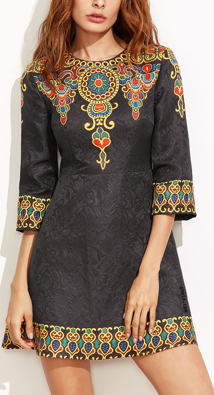 Vintage Jacquard Dress. Gorgeous & classy