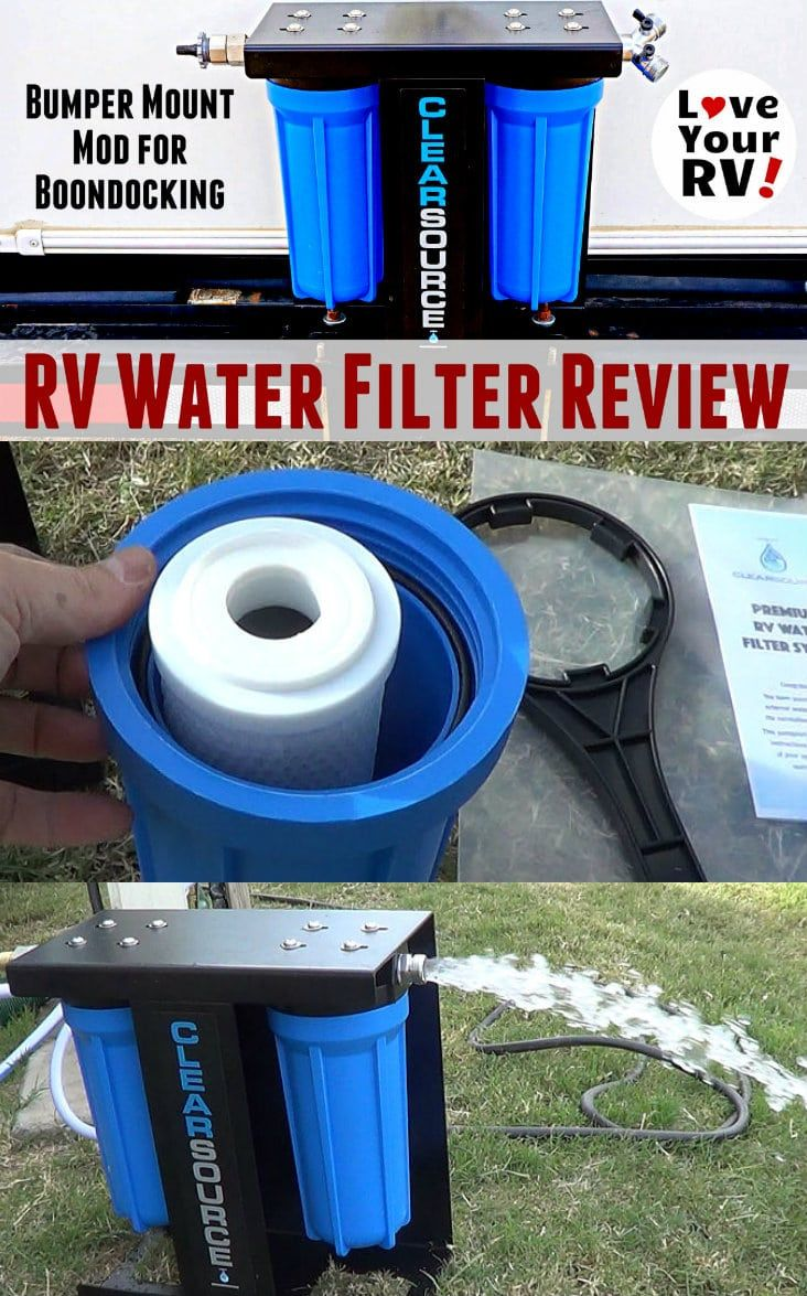Clearsource RV Water Filter Review and Install Mod by the Love Your RV blog - http://www.loveyourrv.com/clearsource-rv-water-filter-review-install-mod/