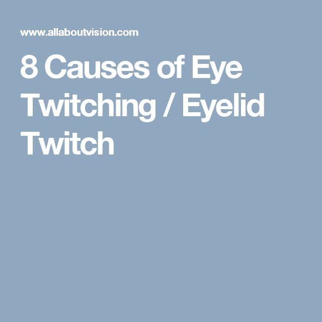 Causes of various consistent facial twitches