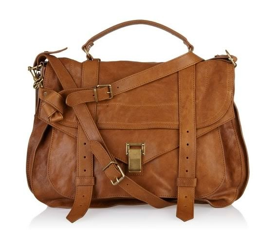 Classic leather book bag