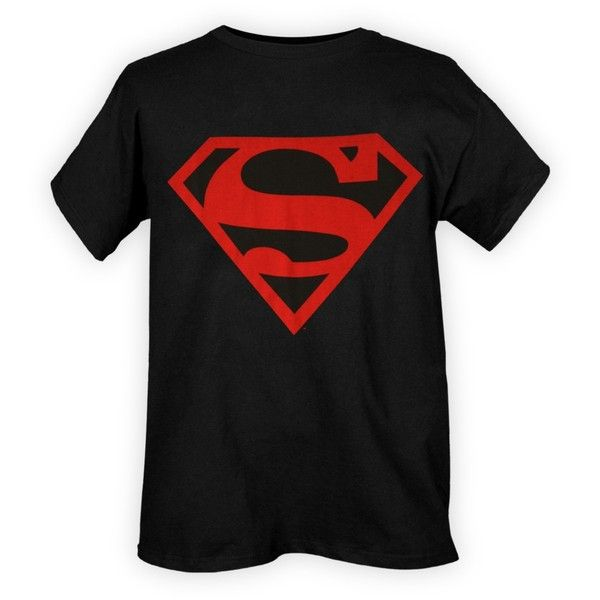 DC Comics Superboy Logo T-Shirt   Hot Topic (€53) ❤ liked on Polyvore featuring tops, t-shirts, superman, men, shirts, t shirts, black t shirt, black shirt, logo tops and logo shirts