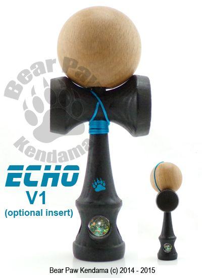 Echo V1 Kendama with sphere by Bear Paw Kendama.  http://bearpawkendama.com/index.php/shop/product/echo-v1-kendama-exclusive-design