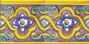 16th Century French Tile murals, spanish tile, victorian tile, decorative tile, ceramic tile