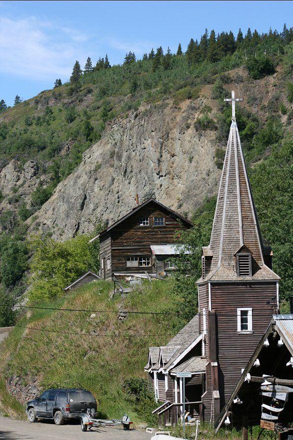 st aidans church, telegraph creek bc