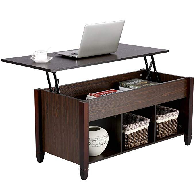 Amazon Com Yaheetech Lift Top Coffee Table With Hidden Storage