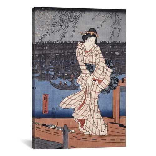 Found it at AllModern - 'Evening on the Sumida River' by Utagawa Hiroshige Painting Print on Canvas