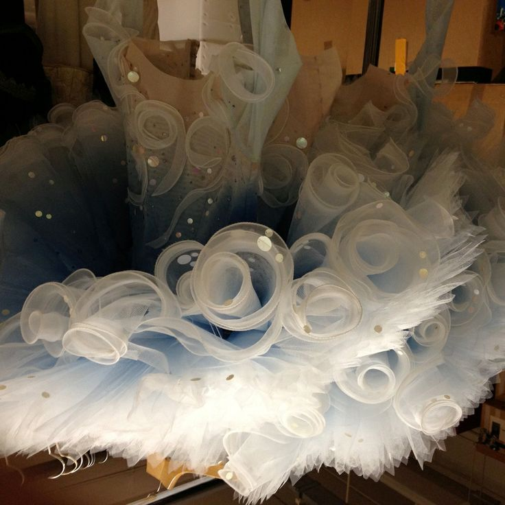 Foam tutu. Japanese inspiration. Rae Smith designer for The Prince of the Pagodas. Birmingham Royal Ballet