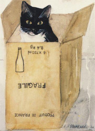 Cat in a Box by Elizabeth Blackadder