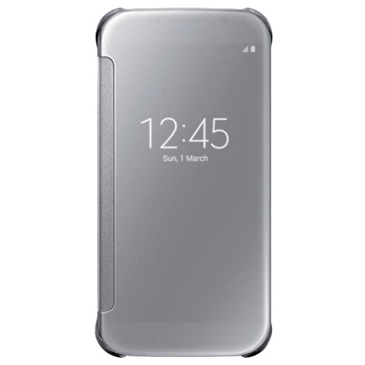 Samsung Galaxy S6 Clear View Flip Veske EF-ZG920BS - Sølv