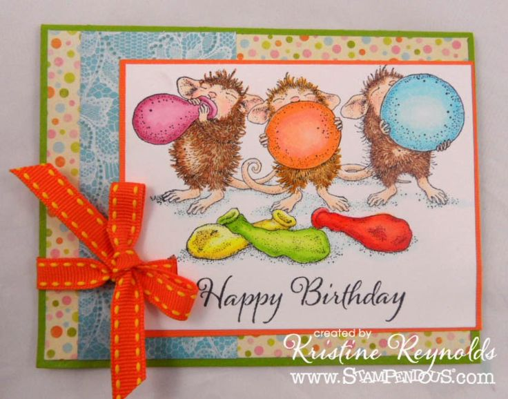 #cre8time for Stamping & Scrapping in California: House Mouse by #Stampendous meets #AuthentiquePaper