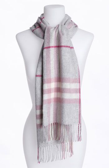 Burberry Giant Check Fringed Cashmere Muffler available at #Nordstrom...matches both of my coats :)