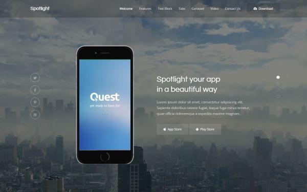 Spotlight - App Landing Page