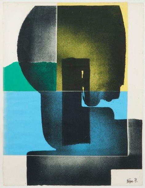 Ladislas KIJNO (1921-2012) Sans titre, 1971 Collage et technique mixte sur papier, signé et daté en bas à droite. 65,5 x 50 cm - Pescheteau-Badin - 09/12/2015 9 décembre