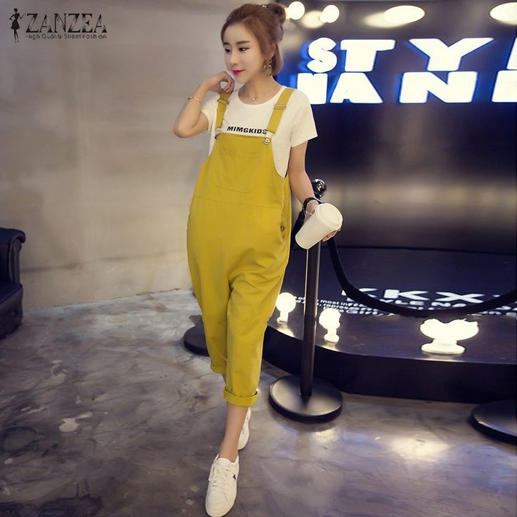 ZANZEA Rompers Womens Jumpsuit 2016 Autumn Vintage Sexy Spaghetti Straps Pants Casual Playsuits Overalls Plus Size S-5XL
