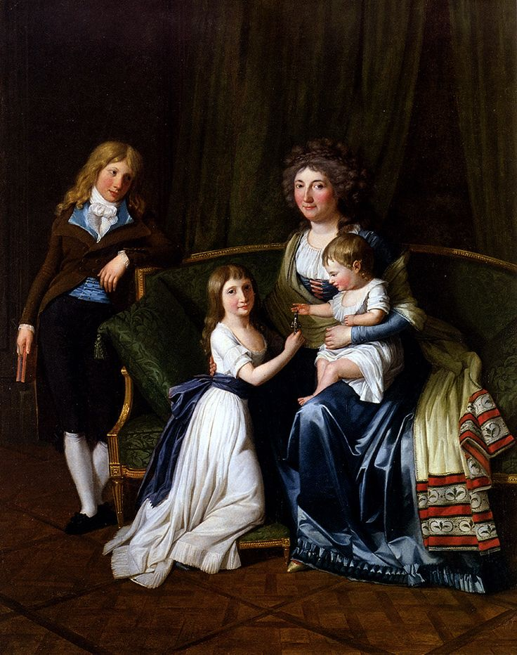 Portrait of a Family in an Interior by Henri Pierre Danloux